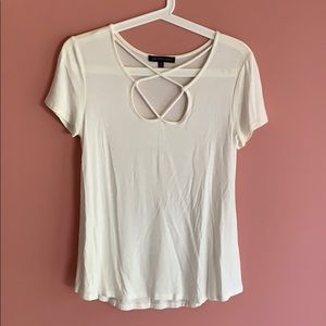 Women's White Cutout Top S